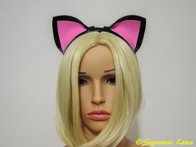 Kitty ears Black & Pink (Two tone) E