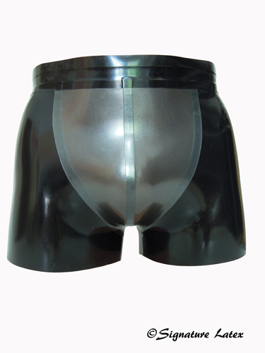 Latex Men's Front Panel Shorts with choice of zip