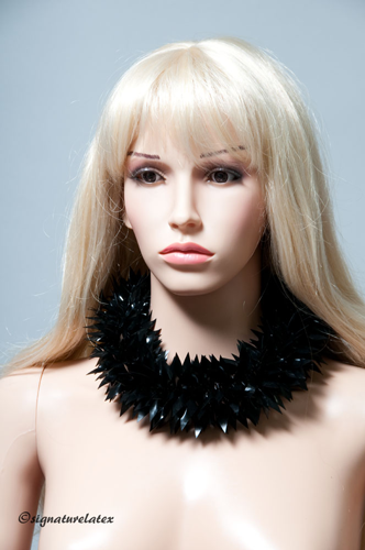 Latex  mini petal Spiky choker (in single colour)